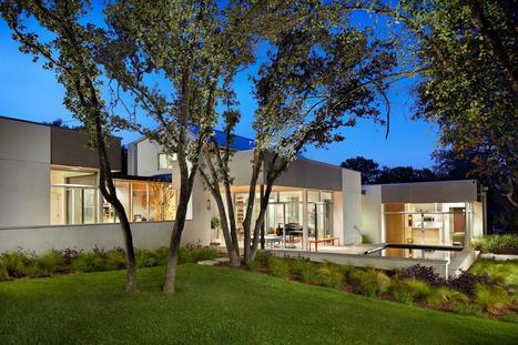 Omniprésence du bois à l'intérieure de cette maison contemporaine cossue de la banlieue d'Austin, Usa | Immobilier International | Scoop.it