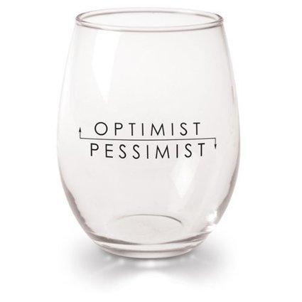 Optimist Pessimist Stemless Wine Glasses - Wineglass Shop | Creating A Home Wine Bar | Scoop.it