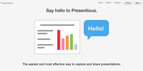 Presentious. Enregistrez vos présentations pour pouvoir les partager – Les Outils Tice | Les outils du Web 2.0 | Scoop.it