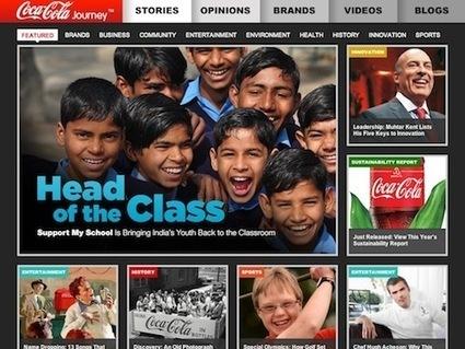 Coca-Cola Revamps Its Website - DesignTAXI.com | Corporate Identity | Scoop.it