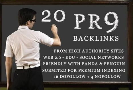 PR9 Backlinks   Cheap PR9 authority backlinks ! Only 5 dollars!   Cool things to share   Scoop.it