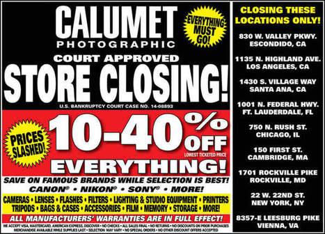 1ProPhoto.Com  |  Official Calumet Liquidation sale | Photography | Scoop.it