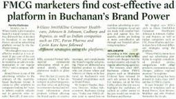 FMCG marketers find cost effective ad platform in Buchanan's Brand Power | Marketing News & Views | Scoop.it