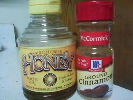 "The power of honey and cinnamon, when taken together (""super!!!"") 