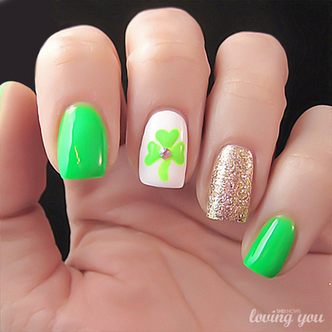 Kiss Me I'm Irish: 50 St Patrick's Day Inspired Nails | News from the States | Scoop.it