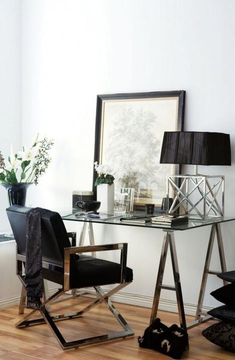 8 idées déco pour une touche glamour dans le bureau | décoration & déco | Scoop.it