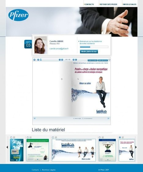 ligne bleue cyber | pfizer | visite médicale à distance | pfizer | PHARMA MULTI-CHANNEL MARKETING  by PHARMAGEEK | Scoop.it
