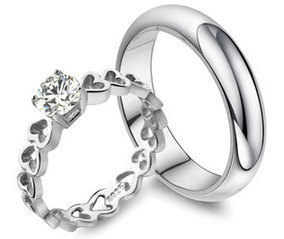 Couples Engagement Rings | Couples Matching His and Hers Jewelry Sets at iDreamsJewelry.com | Scoop.it