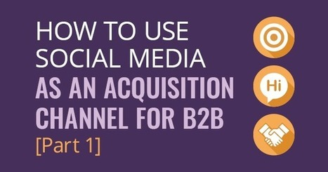 How to Use Social Media as an Acquisition Channel for B2B – Part 1 [Infographic] | Mastering Facebook, Google+, Twitter | Scoop.it