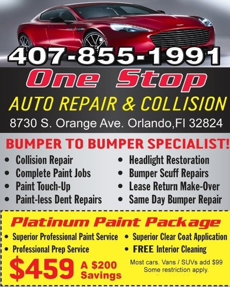 One Stop Auto Repair And Collision Center - #1 Bumper Repair in Orlando, Fl | One Stop Auto Repair And Collision Center | Scoop.it