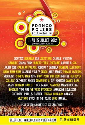 Les Francofolies de La Rochelle du 11 au 15 juillet   Revue de Web par ClC   Scoop.it