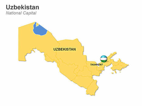 Uzbekistan Map | PowerPoint Presentation Tools and Resources | Scoop.it
