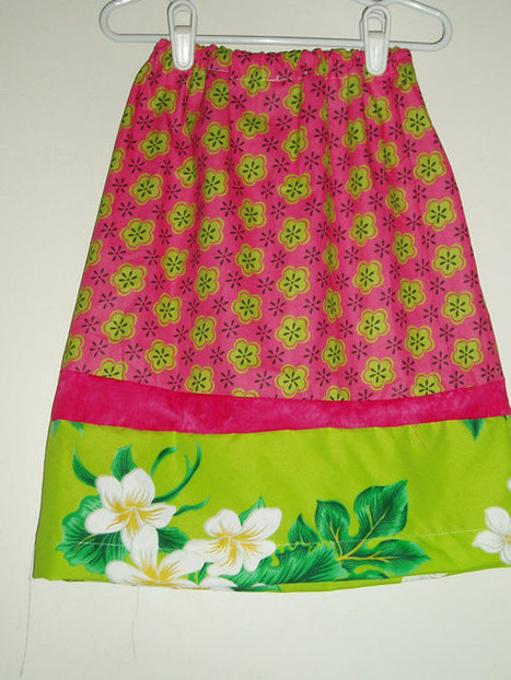 Pretty Handmade Girls Skirt Pink,Green SIZE 5 | Kids Clothing | Scoop.it