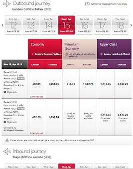Virgin Atlantic makes comparison shopping easier - ITA Software Blog | Comparison Shopping | Scoop.it
