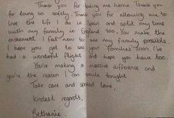 Passenger's 'Thank You' note to pilot goes viral - Times of India | Gratitude | Scoop.it