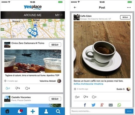 Yesplace, il social network dei luoghi - iPhone Italia Blog - iPhoneItalia - Il blog italiano sull'Apple iPhone | SEO ADDICTED!!! | Scoop.it