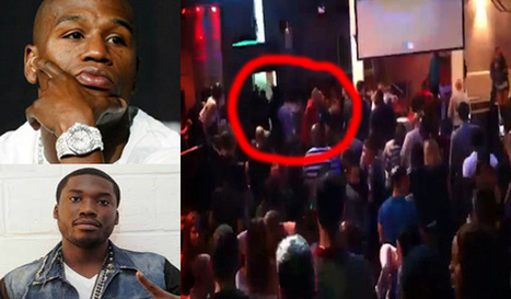 Strip Club Brawl: Meek Mill smacks Floyd Mayweather in head with glass bottle over song request to DJ | GetAtMe | Scoop.it