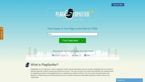 PlagSpotter - Online Duplicate Content Checker | ICT Education | Scoop.it