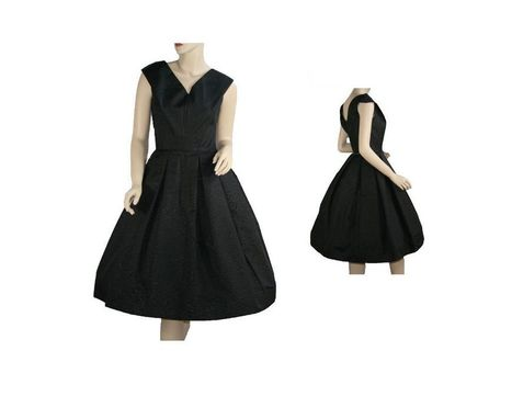 Vintage 1950's Black Moire' Cocktail Evening Dress | All About Vintage | Scoop.it