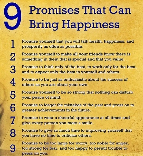 """9 Promises That Can Bring Happiness"" by John Wooden  -  Poster  #quote #taolife 