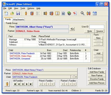ScionPC | logiciel de généalogie | Libellules.ch | Time to Learn | Scoop.it