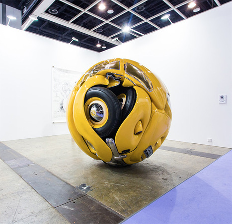 The Beetle Sphere: An Actual 1953 VW Beetle Formed into a Perfect Sphere by Ichwan Noor | Colossal | What Surrounds You | Scoop.it