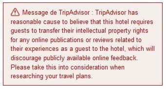 Une nouvelle pénalité fait son apparition chez TripAdvisor | Chambres d'hôtes et Hôtels indépendants | Scoop.it