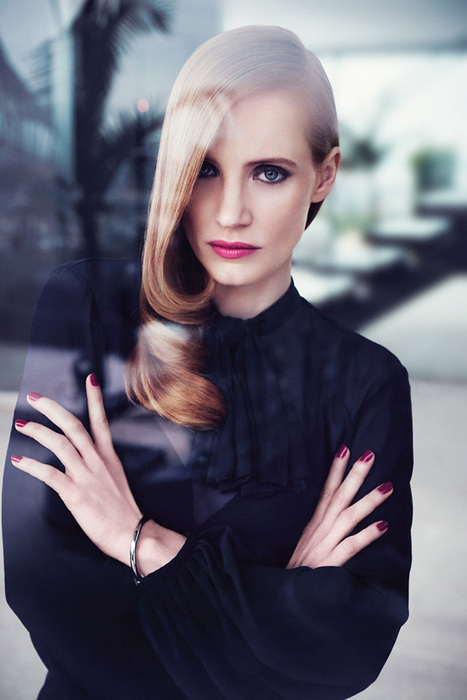 Jessica Chastain's Latest Campaign Shots for YSL's Manifesto | luxury fragrance and beauty tips | Scoop.it