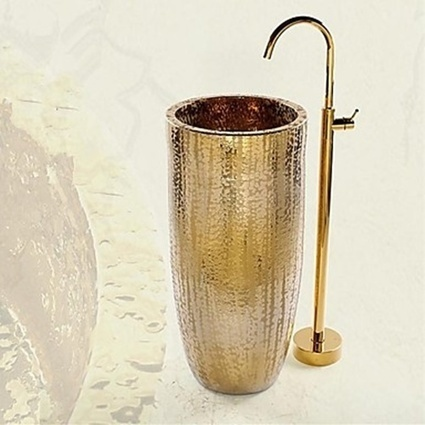 Antique Ti-PVD Floor Mounted Ceramic Valve Single Handle One Hole Floor Standing Bathtub Faucet-- Faucetsmall.com | Shower Faucets & Bathtub Faucets | Scoop.it