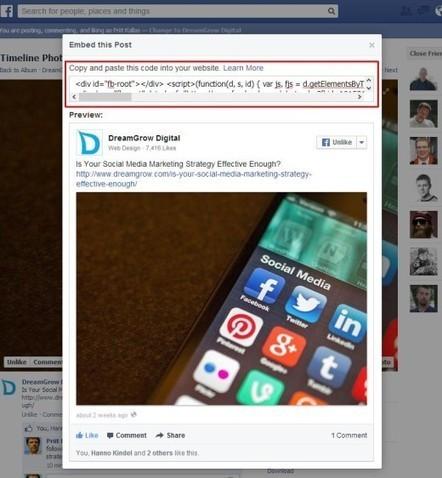 How Facebook Embedded Posts Look Like? | Social Media | Scoop.it