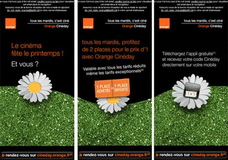 Exemple d'email responsive : Orange pour la fête du cinéma | Email Marketing Francophone | Scoop.it