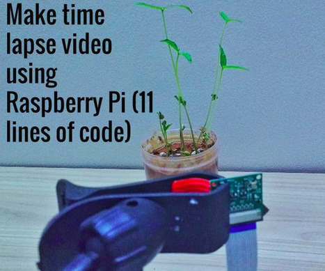 Make time lapse videos using Raspberry Pi (11 lines of code) | Arduino, Netduino, Rasperry Pi! | Scoop.it