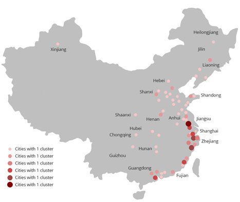 Map: China's Top 100 Industrial Clusters | Business and News | Scoop.it