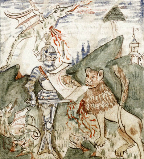 Medieval — Hercules fighting dragons and lion. 15th c. | historical medieval battle | Scoop.it