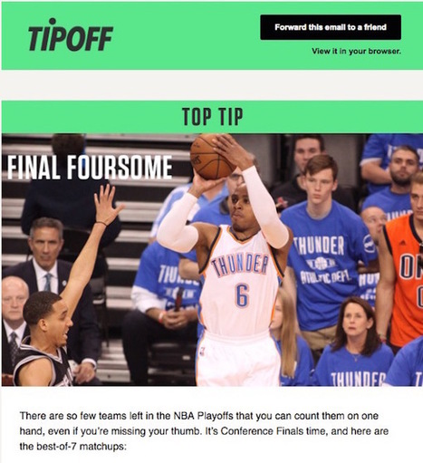 TipOff, an email newsletter, is trying to explain sports to non-fans | Tools You Can Use | Scoop.it