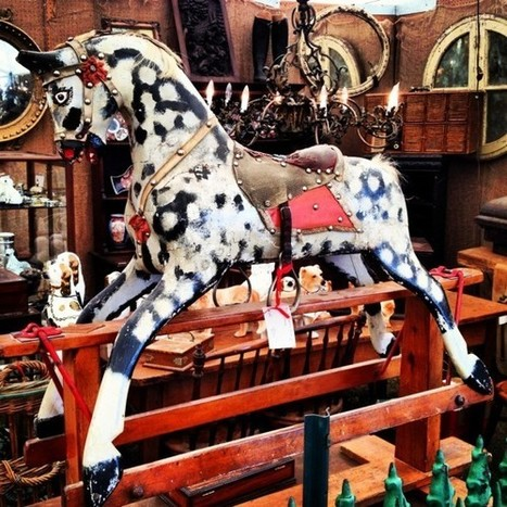 Turn of the Century Rocking Horse... Antique Shopping at Round Top, TX | Antiques & Vintage Collectibles | Scoop.it