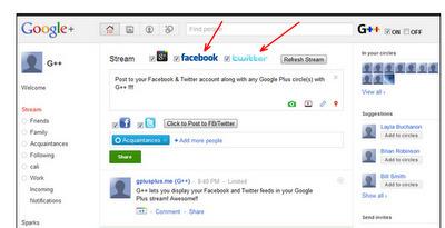 G++:  Une extension pour les mises à jour de Facebook et Twitter sur google+ via google chrome et Firefox | Méli-mélo de Melodie68 | Scoop.it