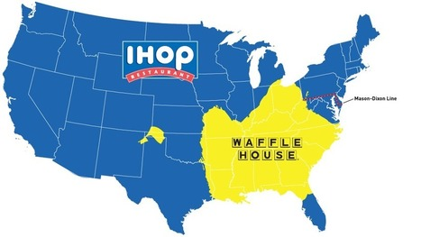 Do You Live In IHOP America Or Waffle House America? | Geography Education | Scoop.it