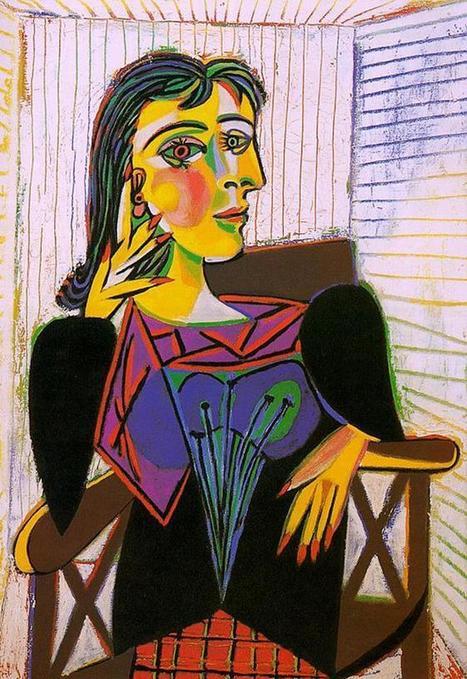 Portrait of Dora Maar Seated, 1937   Favorite Paintings digital   Scoop.it
