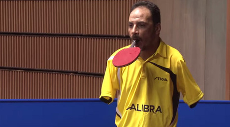 Table Tennis Man With No Hands - Nothing Is Impossible | Spoolster Update | Inspirational | Scoop.it
