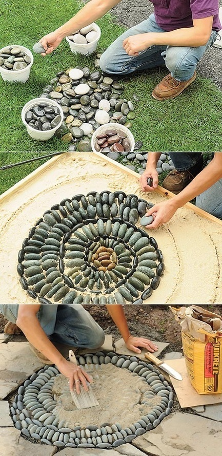 How to make mosaic stepping stones | Backyard Gardening | Scoop.it