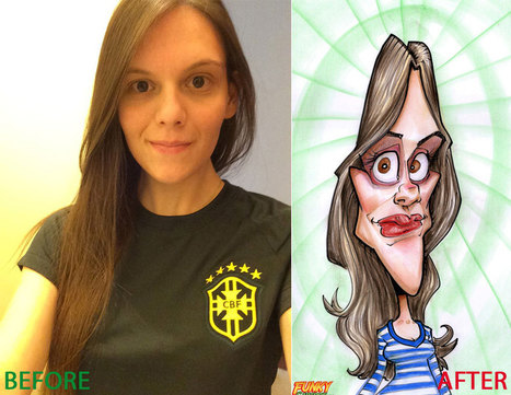 Our latest caricature Personalized Caricature As Gift | Custom Caricatures | Scoop.it