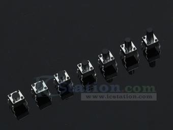 Horizontal button touch switch 6*6*4.3/5/6/7/8/9/10 7 Types each 10pcs - Tact Switch - Arduino, 3D Printing, Robotics, Raspberry Pi, Wearable, LED, development boardICStation | Programmer & ICs Components | Scoop.it