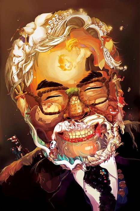Un portrait de Miyazaki façonné avec son univers graphique | MANAGILE Consulting - Enneagram coach & trainings - certified by Helen Palmer school | Scoop.it