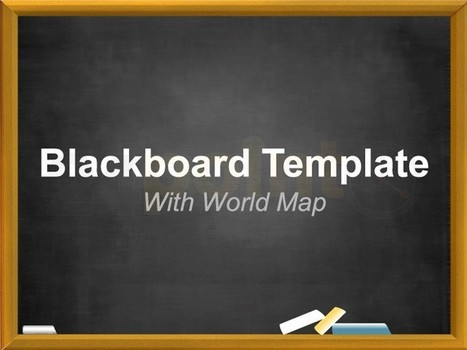 Blackboard Map PowerPoint Template for those who dare to think different! | Powerpoint Templates | Scoop.it