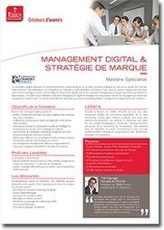 Ouverture en septembre 2013 du premier Mastère Spécialisé en Management digital & stratégie de marque | Actualités ESSCA | Scoop.it