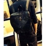 2014 New Fashion Pure Black Chrome Heart Cross Backpack   Chrome hearts   Scoop.it