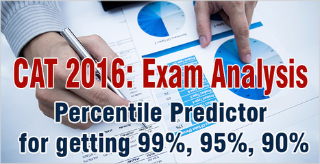 CAT 2016: Experts predict 165 score needed for 99%, 132 for 95%; Check your percentile now | CAT 2016, IIFT, CMAT 2017, XAT 2017, NMAT, MAT, SNAP, MAH CET, TISSNET, CAT Preparation Material, MBA In India, MBA Colleges in India,  CAT Exams, GMAT Preparation Material, MBA Abroad | Scoop.it