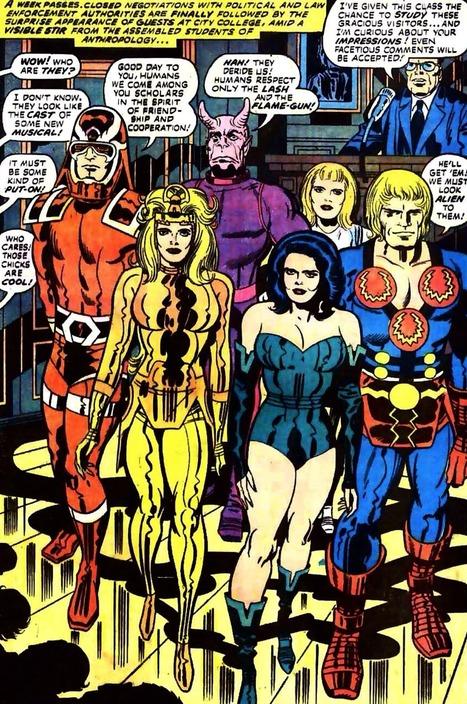 Transmissions From The Geek Room, Eternals on display. Eternals #6, December 1976... | Art | Scoop.it