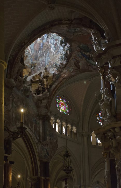 Painted dome in Toledo Cathedral by Allan Howell | Mis imágenes | Scoop.it